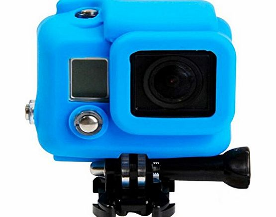 Sannysis Soft Rubber Silicone Protective Case Cover Skin for GoPro Hero 3 3  Camera (Blue)
