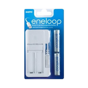Sanyo Eneloop USB Battery Charger   2 x AAA 800mAh
