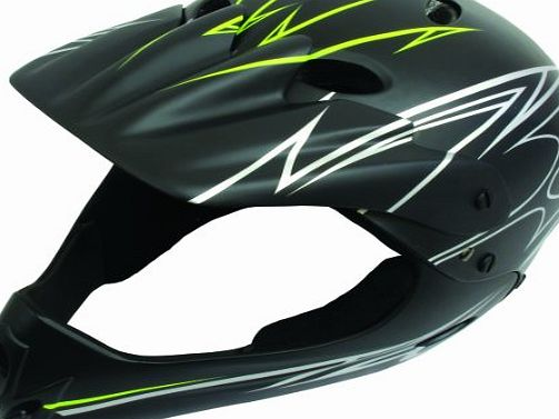 Full Face Bmx Helmet 54-58CM Matt Black