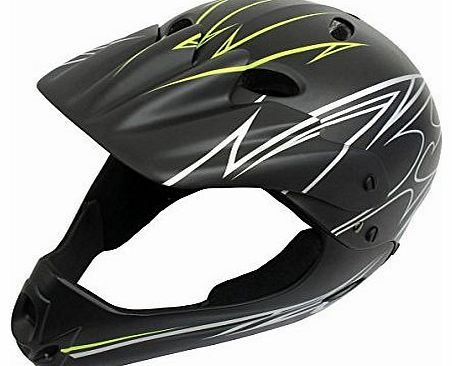 Full Face Youth BMX Helmet 54-58cm 54-58, Black