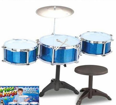 Save On Goods UK Childs kids toy drum kit set, symbals, stool. Play drums. Musical instrument