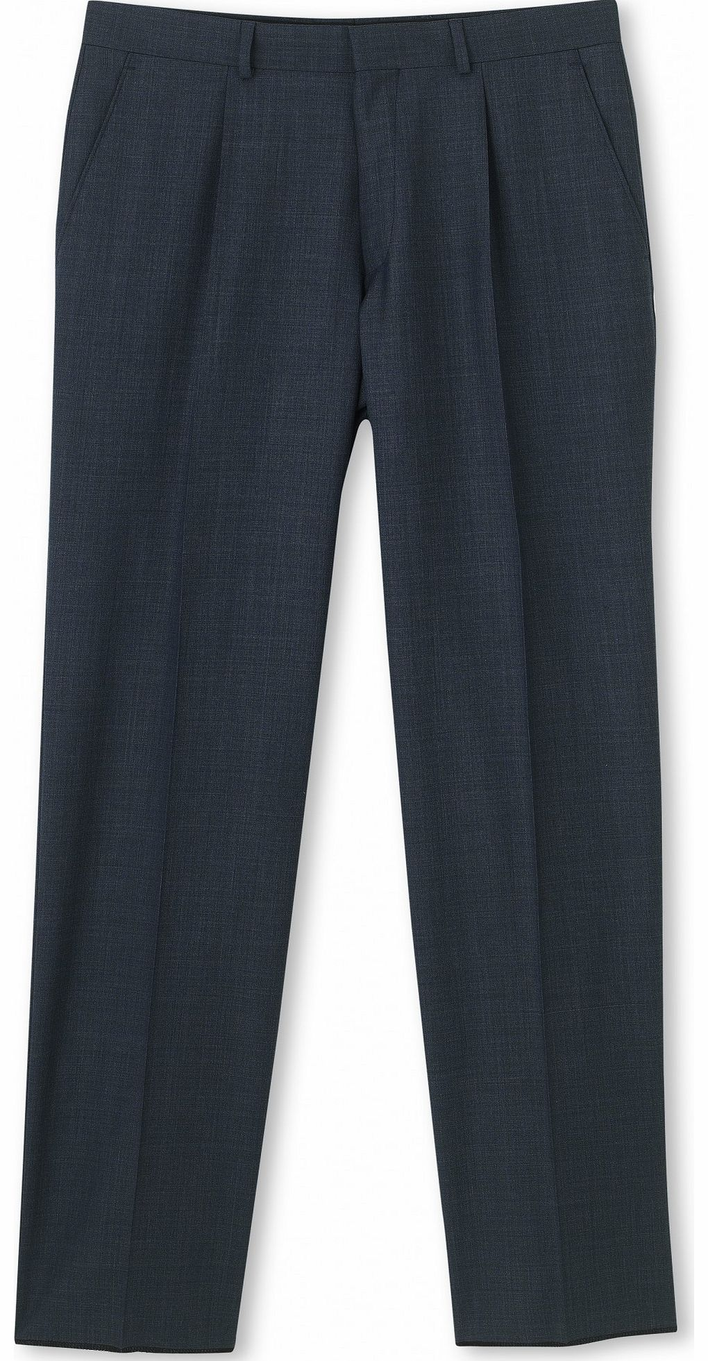 Savile Row Company Navy Microdot Classic Fit Trouser 44`` 32`
