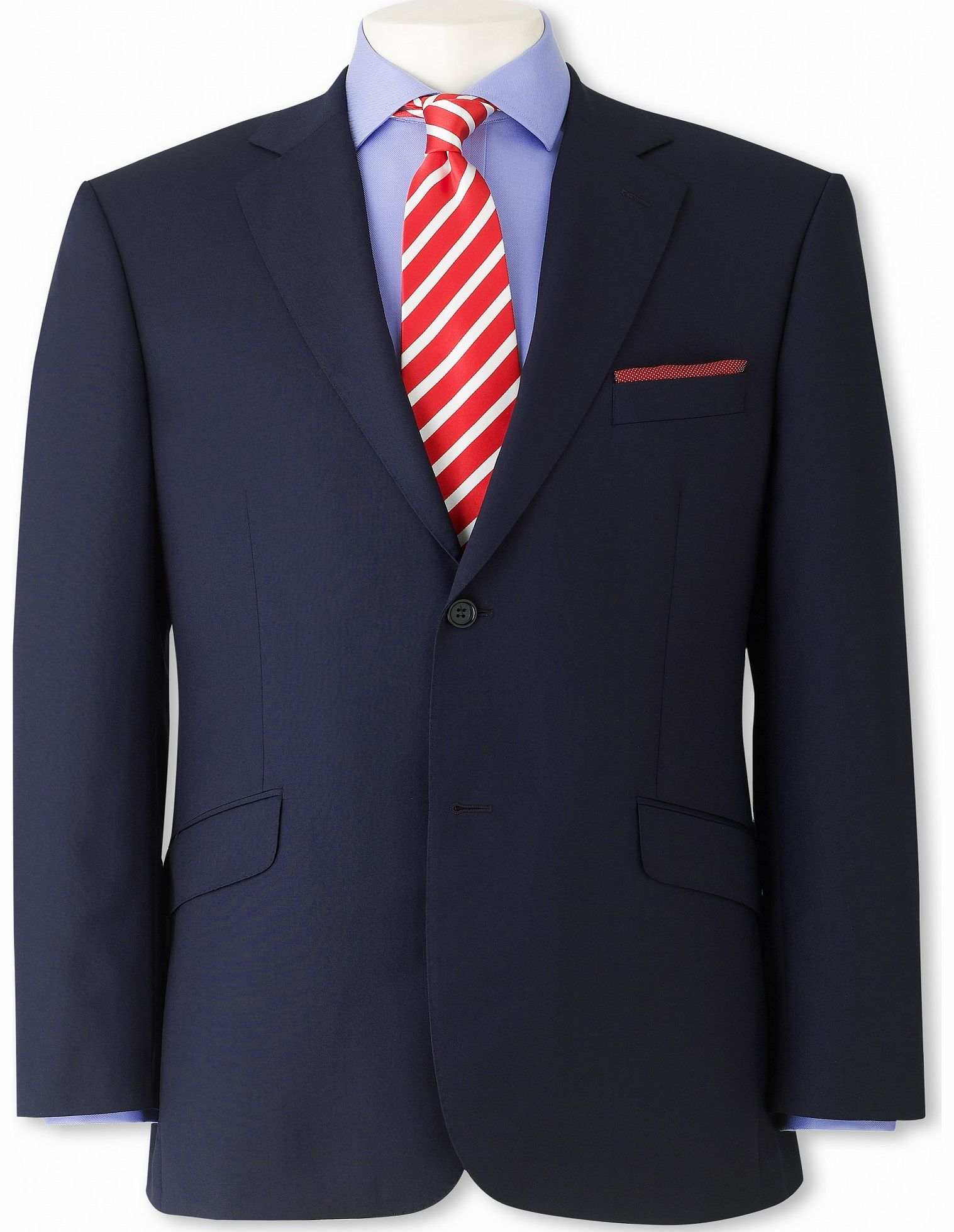 Savile Row Company Navy Plain Classic Fit Jacket 38`` Long