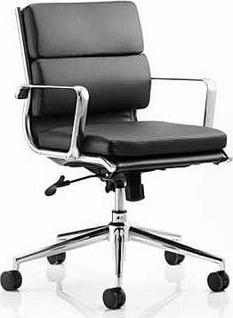 Savoy Medium Back Office Chair - Black
