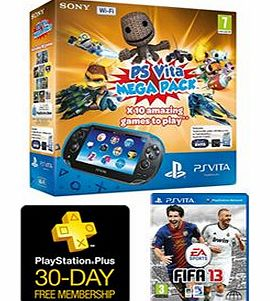 Sony Playstation Vita (Wi-Fi Model) + 10 Game