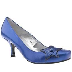 Female Cosmos Star Court Leather Upper Low Heel in Blue