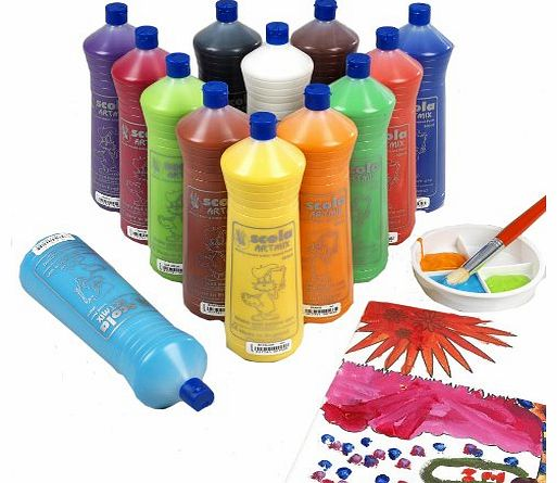 Artmix Ready Mix Coloured Paint 12 x 600m (Pack of 12)