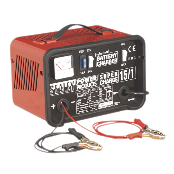 Sealey Battery Charger 14amp 12/24v 230v SUPERCHARGE15-1
