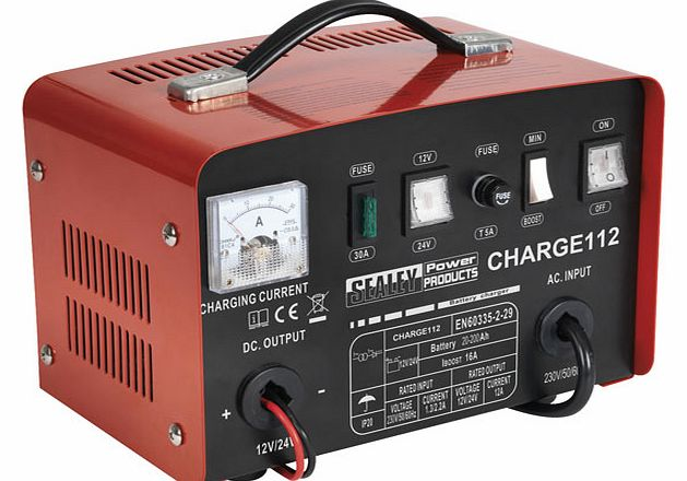 Sealey Battery Charger 16Amp 12/24V 230V CHARGE112