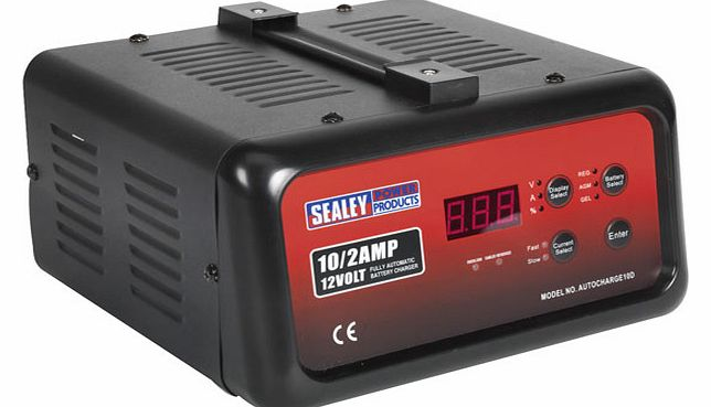 Sealey Battery Charger Electronic Digital 10Amp 12V