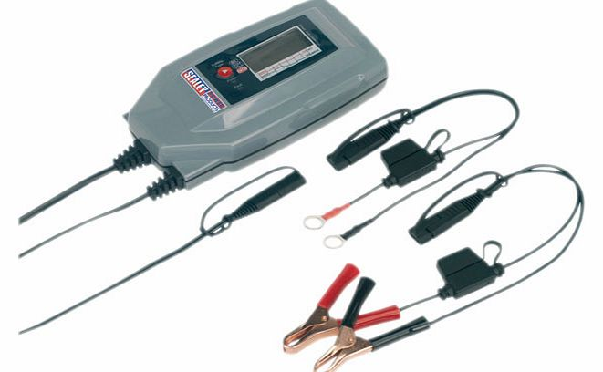 Compact Auto Digital Battery Charger - 7-cycle