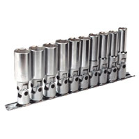 Universal Joint Socket Set Deep WallDrive 10pc 3/8andquotSq Drive Metric