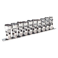 Universal Joint Socket Set WallDrive 10pc 3/8andquotSq Drive Metric