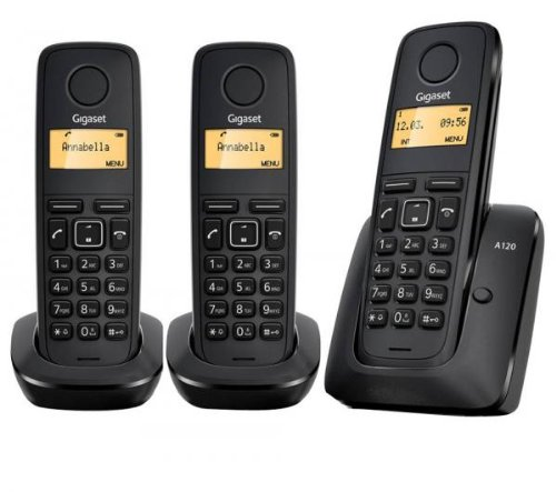 Gigaset A120 TRIO Cordless Phone ( DECT,Low Radiation )
