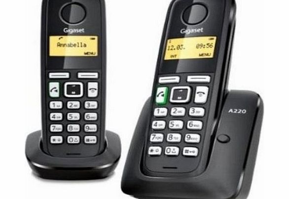 Gigaset A220 DUO Cordless Phone ( DECT,Hands Free Functionality, Low Radiation )