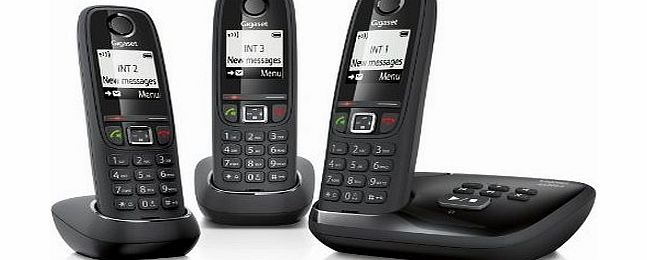 Gigaset AS405A Cordless Phone with Answer Machine (Pack of 3)