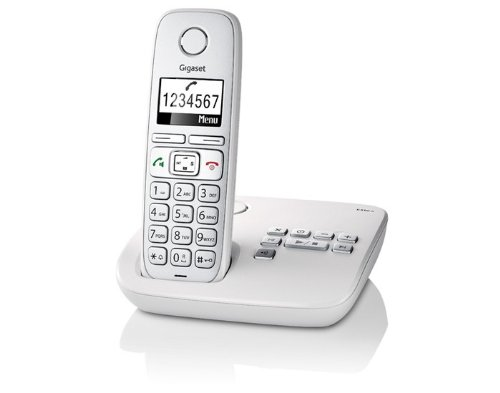 Gigaset E310A Single DECT Cordless Phone with Answer Machine - Light Grey