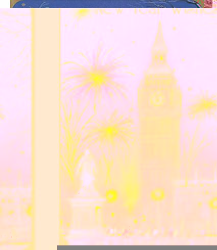 Selective New Year Wishes - Big Ben Clock Tower Fireworks Greeting Card