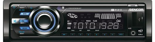Sencor SCT 3015MR Car Radio (AUX-In, AM/FM Tuner, SD/MMC Card Slot, LCD Display, 4x 40 Watt, USB)