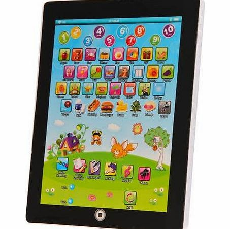 Sentik My First Tablet Kids Childrens Laptop Touch Type Learning Computer Educational Toy Game, Blue