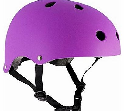 Skate/Scooter/BMX Helmet - Matt Fluo Purple (Large to X-Large: 57cm - 59cm)