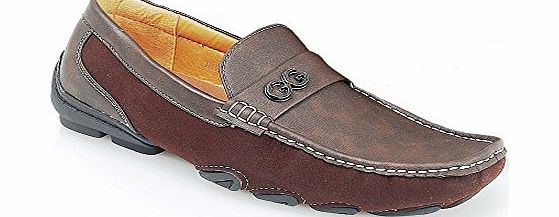 shoe avenue new mens leather look casual designer inspired