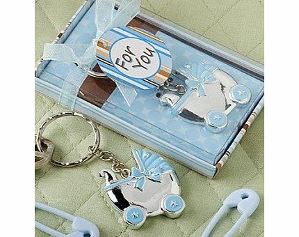 Shower My Baby A Baby Boy Carriage Key Chain
