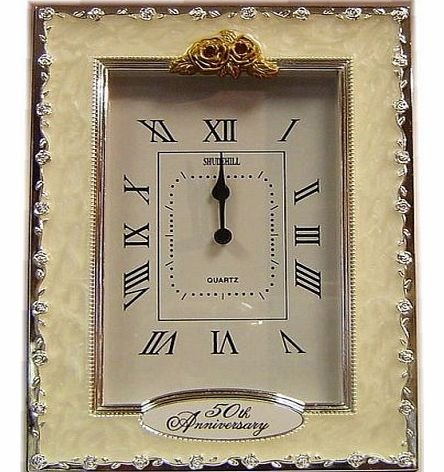 ... - 50th Anniversary Golden Wedding Celebration Quartz Table Clock