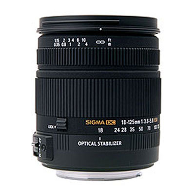 18-125mm f3.8-5.6 DC OS HSM Lens - Canon Fit