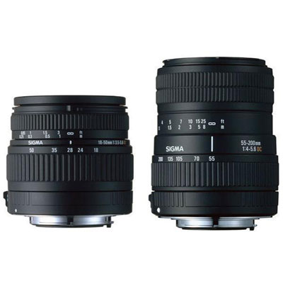 18-50mm and 55-200mm DC Lens - Pentax Fit