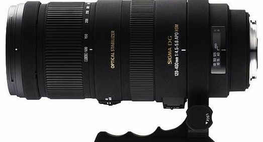 AF 120-400mm f/4.5-5.6 APO DG OS HSM Optically Stabilised lens for Sony/Minolta DSLR
