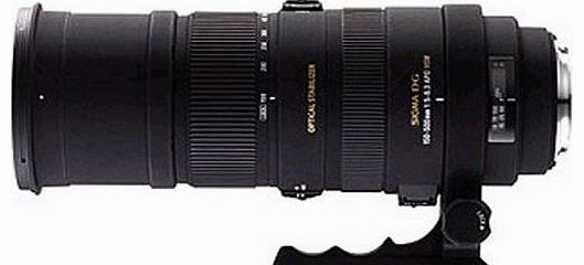 AF 150-500mm F/5-6.3 APO DG OS HSM telephoto zoom lens for Sony / Minolta A-Mount DSLR Cameras