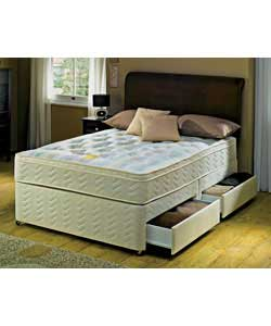 Divan beds silentnight beds orthopaedic 4 drawer king size for King size divan bed with 4 drawers