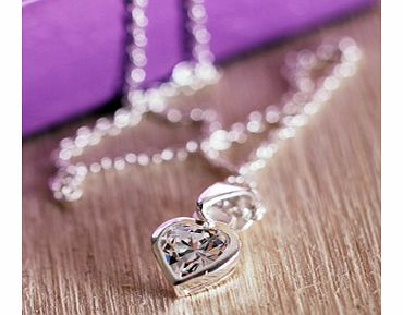 and Cubic Zirconia Heart Shaped Pendant