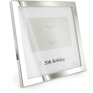 Plated 50th Birthday Mount Photo Frame