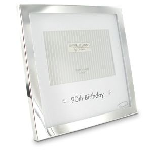 Plated 90th Birthday Printed Mount Photo