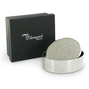 Plated Diamonds Collection Oval Trinket Box