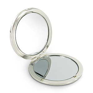 Plated Diamonds Collection Round Compact