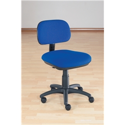 Sirius Blue Typist Chair. Adjustable Seat Height, Back
