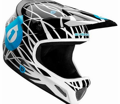 Evo Wired Unisex Full Face MTB Helmet - Black/Cyan, Medium
