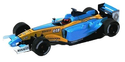 Modelxtric Renault 2003 race car - F.Alonso Ltd Ed 7-000pcs