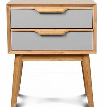 Lagan bedside table Grey `One size