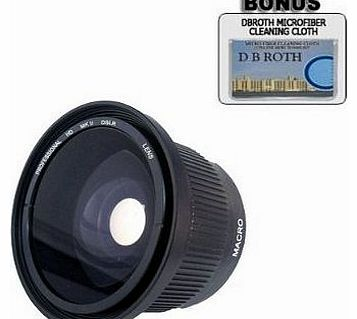 .42x HD Super Wide Angle Panoramic Macro Fisheye Lens For The Olympus PEN E-PL1 Digital Camera Which Has Any Of These (14-42mm (``4/3 system``), 40-150mm, 70-300mm) Olympus Lenses