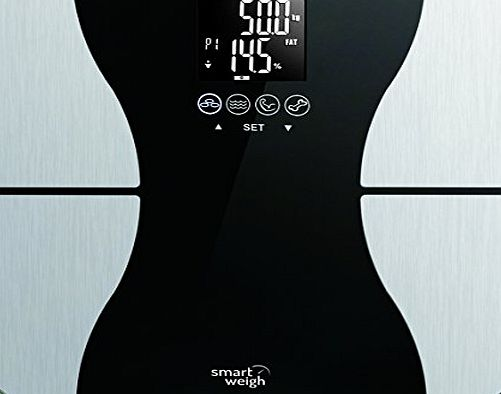 Body Fat Digital Precision Scale with Tempered Glass Platform, Eight User Recognition, and 200 kg Weight Capacity, Measures Weight, Body Fat, Water, Muscle and Bone Mass