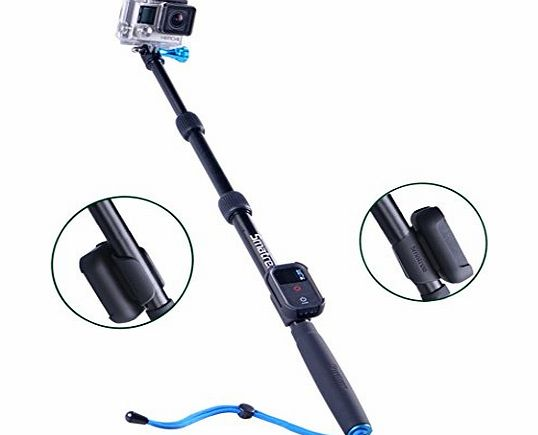 Smatree SmaPole S2 All-aluminum Gopro Handheld Pole integrated with a Tripod Mount (16?to 40? Extension)   Smatree WiFi Remote Protective ClipCase for GoPro Hero 4 Hero 3  Hero3 Hero2 HD, sj4000 Camco