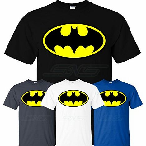 Batman Mens Boys Womens Ladies Girls Unisex T-shirt Tee Top Cotton T Shirt XS S M L XL XXL Many Colors & sizes Available by SnS Online (Youth (M) Kids 7-8 Years, Black)