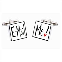 Sonia Spencer E-mail Me Bone China Cufflinks by