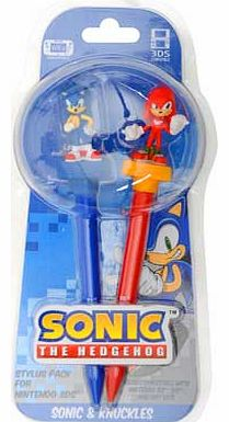3D Stylus Sonic & Knuckles for 3DS. DS &