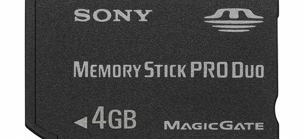 Sony Flash Memory Stick Pro Duo for High-speed Recording Devices Capacity 4GB Ref INMSPDUO4G (INMSPDUO4G)