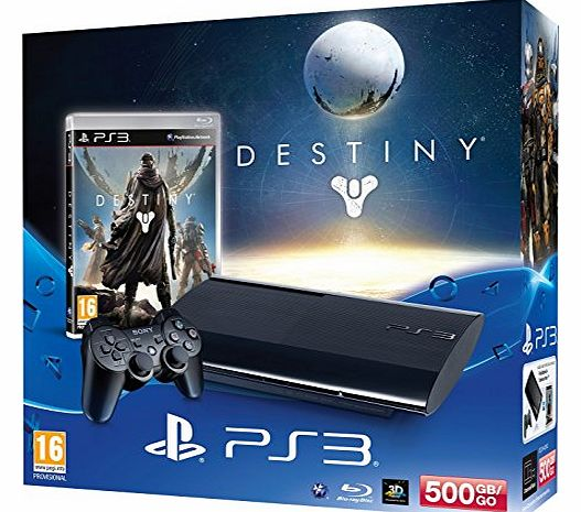 PlayStation 3 500GB Super Slim Console with Destiny